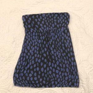 Blue American Eagle polka dot tube top